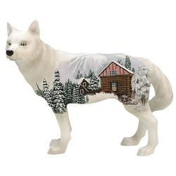 Winter Cabin Wolf