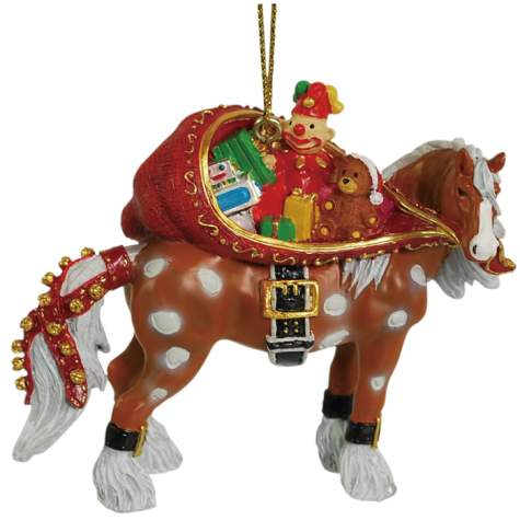 Santa Horse Clydesdale Ornament